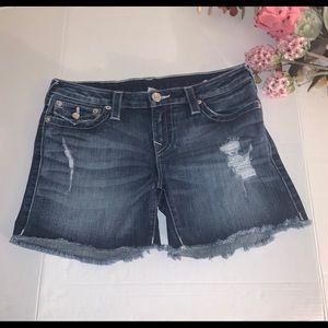 True Religion women's denim shorts size 30